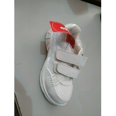 Ekta White Velcro School Shoes