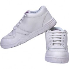 Gola White Laces School Shoe