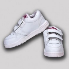 Gola White Velcro School Shoe
