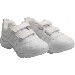Sparx White velcro School Shoes