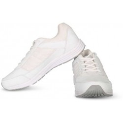 Vector White lace School shoes