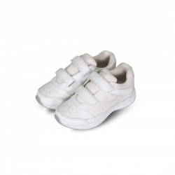Vector White Velcro School shoes