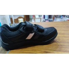 Mayoor School Shoe Velcro Black & White