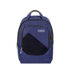 Carriall Minikin Blue Smart Laptop Backpack with charging port