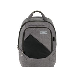 Carriall Minikin Grey Smart Laptop Backpack with charging port
