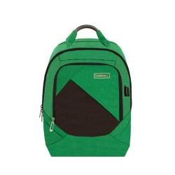 Carriall Minikin Green Smart Laptop Backpack with charging port