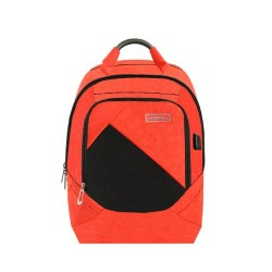 Carriall Minikin Orange Smart Laptop Backpack with charging port
