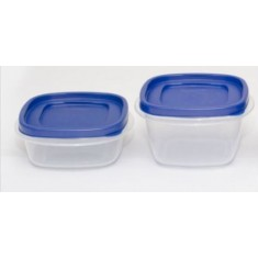 Cutting Edge Snap Tight Food Storage Container Blue, Set Of 2