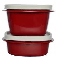 Cutting Edge Snap Tight Food Storage Container Red, Set Of 2, Blossom Red
