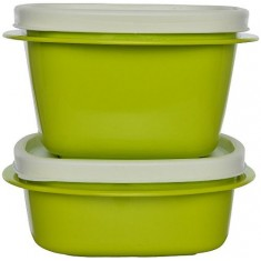 Cutting Edge Snap Tight Food Storage Container Green, Set Of 2, Trendy Green