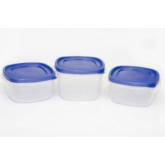 Cutting Edge Snap Tight Food Storage Container Blue, Set Of 3