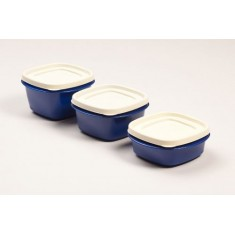 Cutting Edge Snap Tight Food Storage Container Blue, Set Of 3, Electric Blue