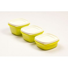 Cutting Edge Snap Tight Food Storage Container Green, Set Of 3, Trendy Green