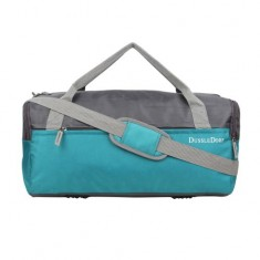 Dussle Dorf Polyester 35 Liters Grey and Turquoise Travel Duffel Bag