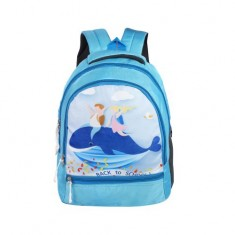 Dussle Dorf Kid's Polyester 15L Backpack (Cyan, 5-8 Years)