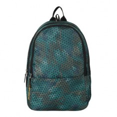 Dussle Dorf Polyester 25 Liters Laptop Backpack (Turquoise Full Print)