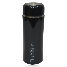 Dubblin Micky Classy Black Thermos Water Bottle,260 ml,Pack of 1,Hot/Cold