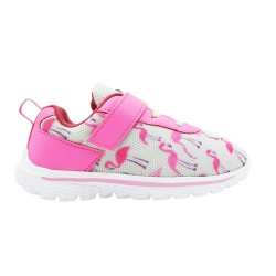 Kid's White & Pink Sports Shoes