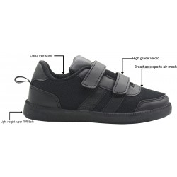 Boy's & Girl's Velcro School Shoes
