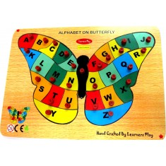 Alphabet on Butterfly Puzzle