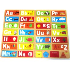 Alphabet Picture Shape Matching Board
