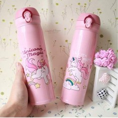 Bottles( Straw and String Water Bottle - Pink)