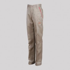 MAX F/PANT BEIGE EL POLY COTTON