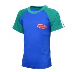 T-SHIRT SPORTS GREEN & BLUE BOYS