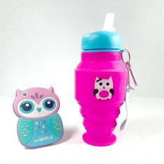 OWL SILICONE BOTTLE(girls)