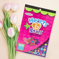 Hearts & Stars Stickerbook(Unisex)