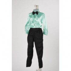 Ballroom Dance Boy - Black & Aqua green