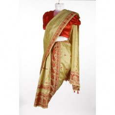 Bihu Girl - Beige & Red