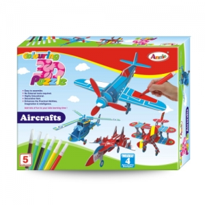 Annie Colouring 3D Puzzle Aircraft
