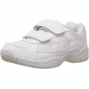Nivia Mesh with Velcro Jr Shoes - White