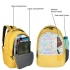 DUSSLE DORF Polyester 15 L Yellow Kids School Backpack (5-8 Year)