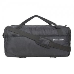 Dussle Dorf Polyester 35 Liters Black Travel Duffel Bag