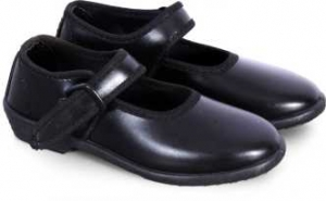 Ekta Black Girls School Shoes with buckle